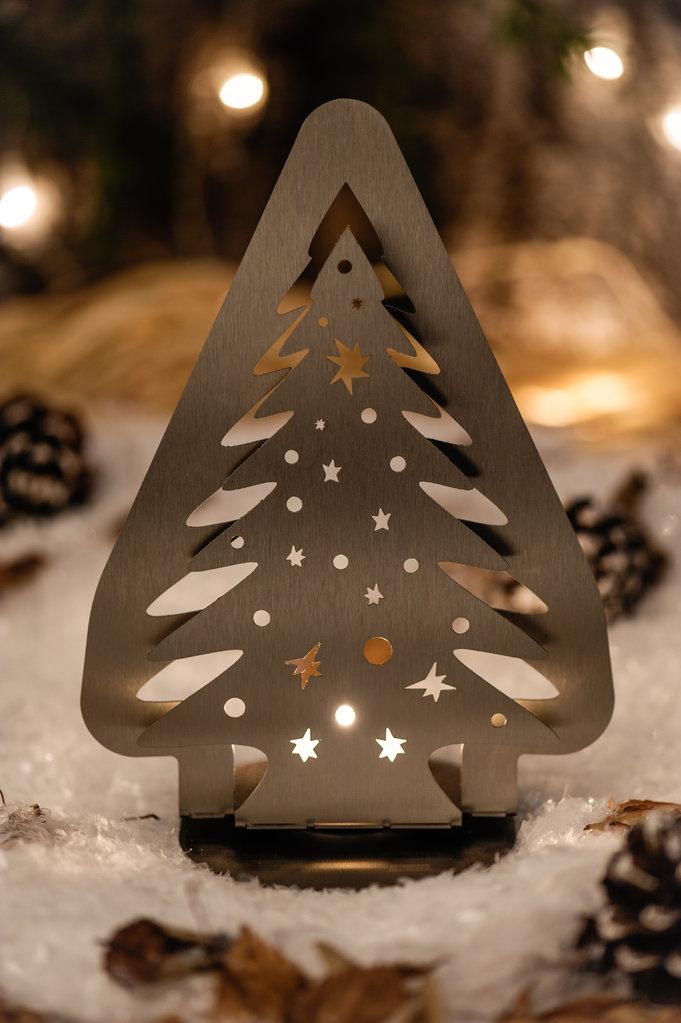 weihnachtsbaum standfigur f r teelicht. Black Bedroom Furniture Sets. Home Design Ideas