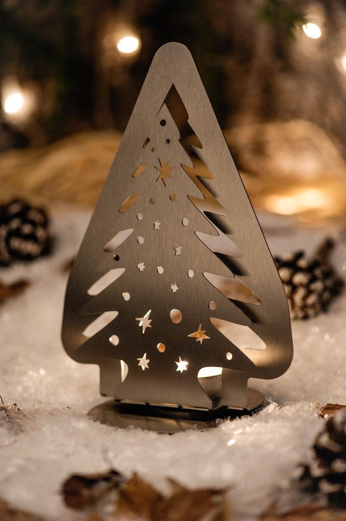 Weihnachtsbaum standfigur f r teelicht for Design weihnachtsbaum edelstahl