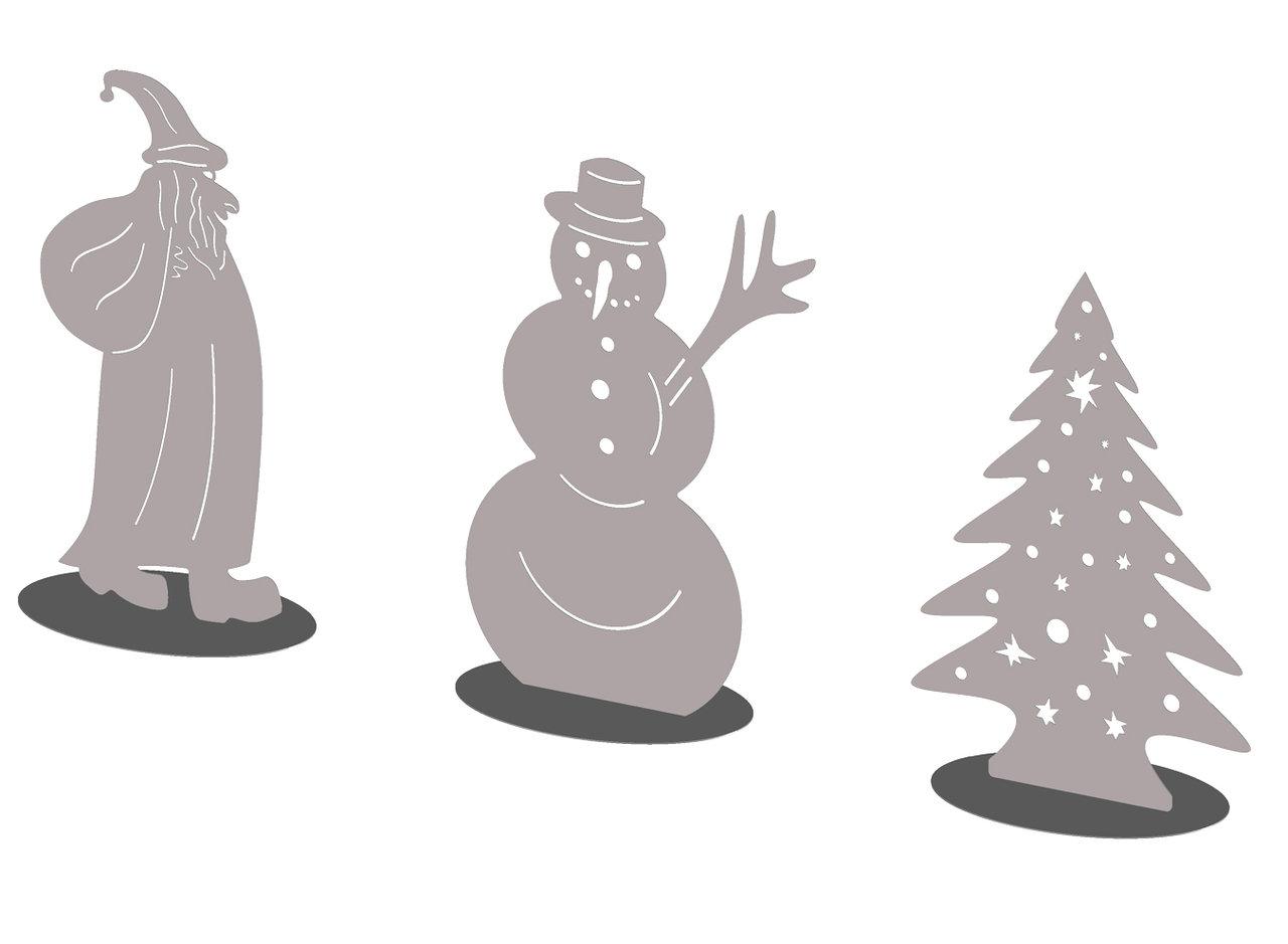 weihnachtsbaum standfigur edelstahl. Black Bedroom Furniture Sets. Home Design Ideas